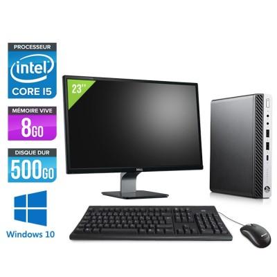"""Pack Pc de bureau HP EliteDesk 800 G3 DM reconditionné + Écran 23"""""""