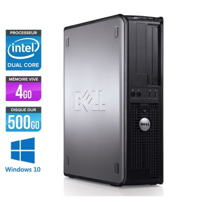 Ordinateur de bureau - Dell Optiplex 780 DT - E5300 - 4Go - 500Go HDD - Windows 10