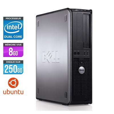 Ordinateur de bureau Dell Optiplex 780 DT - E5300 - 4Go - 250Go HDD - Ubuntu/Linux