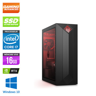 PC de bureau pro gamer reconditionné constructeur - HP Omen Obelisk 875-0171NF - Intel core i7 - 16Go - SSD 256Go - RTX 2060 - Windows 10 - Trade Discount