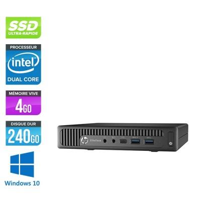 Pc de bureau HP EliteDesk 800 G2 DM reconditionné - G440T - 4Go DDR4 - 240Go SSD - Windows 10