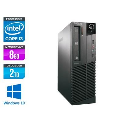 Lenovo ThinkCentre M81 SFF - i3 - 8Go - 2To - WIndows 10