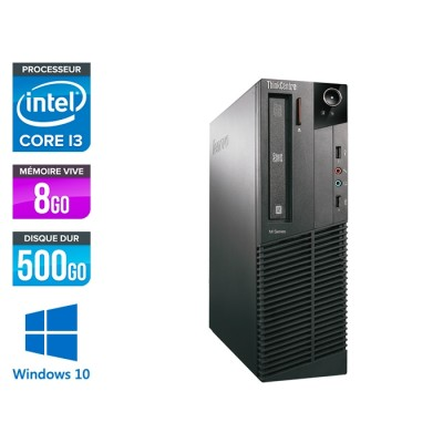 Lenovo ThinkCentre M81 SFF - i3 - 8Go - 500Go - WIndows 10