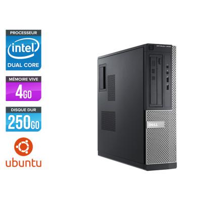 Pc bureau reconditionné - Dell Optiplex 3010 DT - G640 - 4Go - 250 Go HDD - Ubuntu / Linux