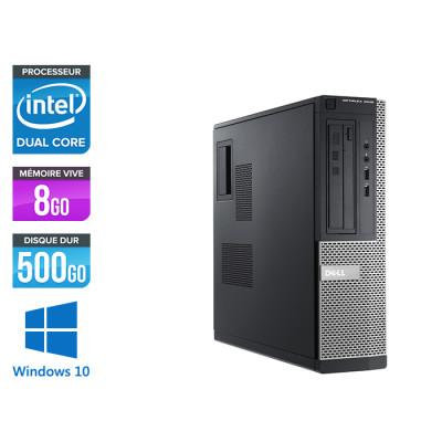 Pc bureau reconditionné - Dell Optiplex 3010 DT - G640 - 8 Go - 500 Go HDD - Windows 10