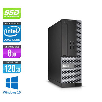 Pc de bureau reconditionné Dell Optiplex 3020 SFF - Pentium - 8 Go - SSD 120 Go - W10