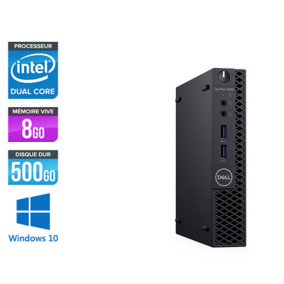 Pc de bureau Dell 3060 Micro - Intel Pentium Gold 5400 - 8Go - 500 Go HDD - W10