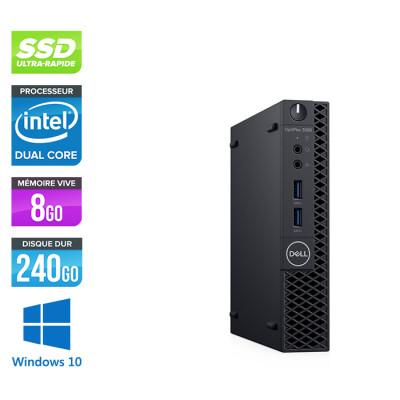 Pc de bureau Dell 3060 Micro - Intel Pentium Gold 5400 - 8Go - SSD 240 Go - W10