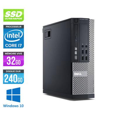 Dell Optiplex 9020 SFF - i7 - 32 Go - 240Go SSD - DVDRW - Windows 10