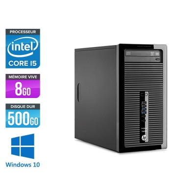 HP ProDesk 400 G1 Tour - i5 - 8Go - 500Go HDD - Windows 10