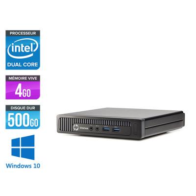 Ordinateur de bureau - HP EliteDesk 800 G1 DM reconditionné - G3220 - 4Go - 500Go HDD - Windows 10