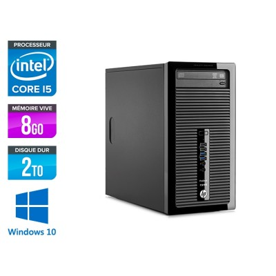 HP ProDesk 400 G2 Tour - reconditionné - i5 - 8Go DDR3 - 2To - HDD - Windows 10