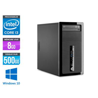 HP ProDesk 400 G2 Tour - reconditionné - i3 - 8Go DDR3 - 500Go - HDD - Windows 10