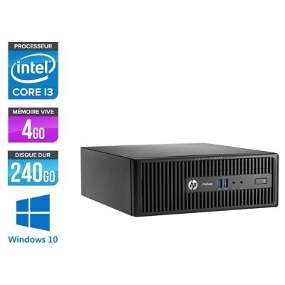 Pc de bureau HP ProDesk 400 G3 SFF reconditionné - i3 - 4Go - 240Go SSD - W10