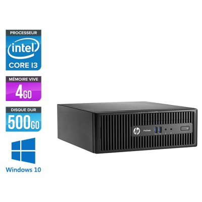 Pc de bureau HP ProDesk 400 G3 SFF reconditionné - i3 - 4Go - 500Go HDD - W10