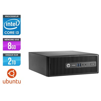 Pc de bureau HP ProDesk 400 G3 SFF reconditionné - i3 - 8Go - 2To HDD - Linux