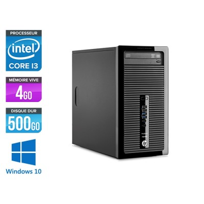 HP 400 G3 Tour - reconditionné - i3 - 4Go - 500Go HDD - W10