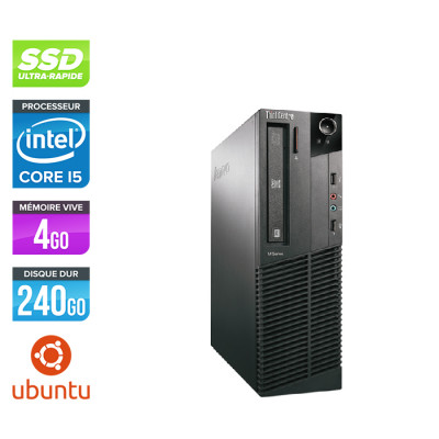 Lenovo ThinkCentre M81 SFF - Intel Core i5 - 4Go - 240Go SSD - Linux