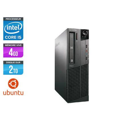 Lenovo ThinkCentre M81 SFF - Intel Core i5 - 4Go - 2To HDD - Ubuntu / Linux