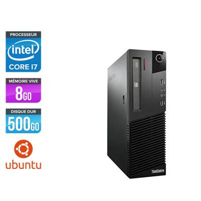 Lenovo ThinkCentre M82 SFF - i7 - 8Go - 500Go - Ubuntu / Linux