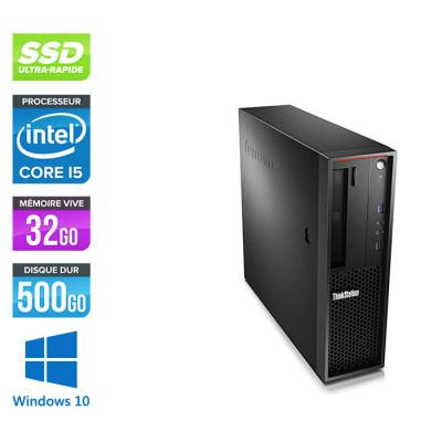 Lenovo P310 reconditionné - Core i7 - 32Go - 500 Go SSD - GT 1030 - Windows 10