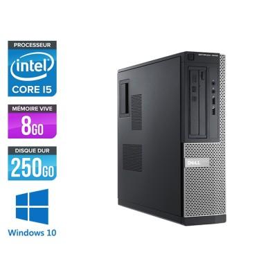 Pc de bureau - Dell Optiplex 3010 format DT reconditionné - i5 - 8Go - 250Go - Windows 10