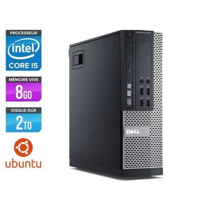Pc de bureau reconditionné Dell Optiplex 7020 SFF - Core i5 - 8Go - 2To HDD - Ubuntu / Linux