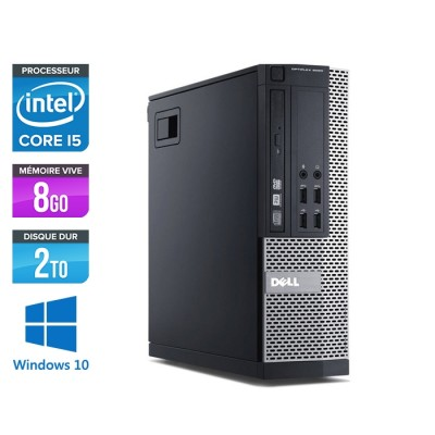 Pc de bureau reconditionné - Dell Optiplex 7020 SFF - Core i5 - 8Go - 2 To HDD - Win 10