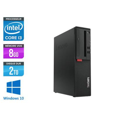 Pc de bureau reconditionne Lenovo ThinkCentre M710s SFF - Intel core i3-7100 - 8 Go RAM DDR4 - 2 To HDD - Windows 10 Famille