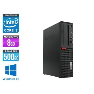 Pc de bureau reconditionne Lenovo ThinkCentre M710s SFF - Intel core i3-7100 - 8 Go RAM DDR4 - 500 Go HDD - Windows 10 Famille