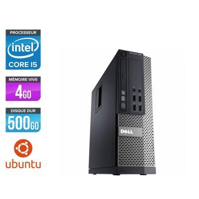 Pc de bureau reconditionné - Dell Optiplex 990 SFF - i5 - 4Go - 500Go HDD - Ubuntu / Linux