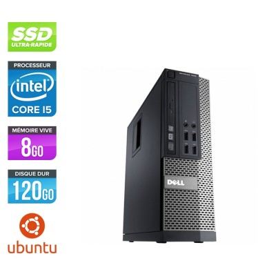 Pc de bureau reconditionné - Dell Optiplex 990 SFF - i5 - 8Go - SSD 120 Go - Ubuntu / Linux