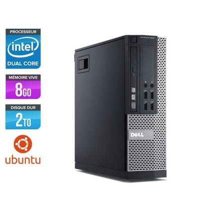 Pc de bureau pro reconditionné - Dell Optiplex 7010 SFF - pentium g645 - 8Go - 2 To HDD - Ubuntu / Linux