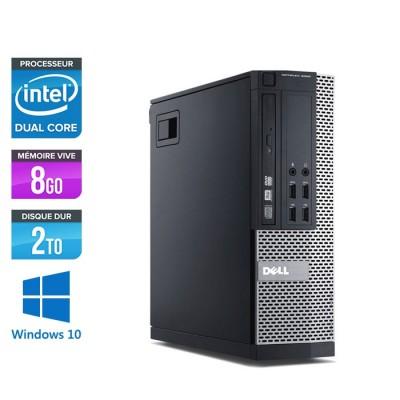 Pc de bureau pro reconditionné - Dell Optiplex 7010 SFF - pentium g645 - 8Go - 2 To HDD - Windows 10