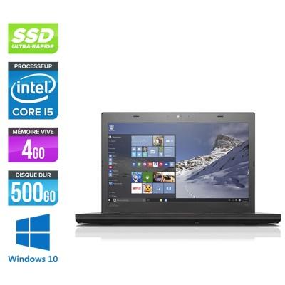 Lenovo ThinkPad T460 - i5 6300U - 4Go - SSD 500Go - FHD - Windows 10 professionnel