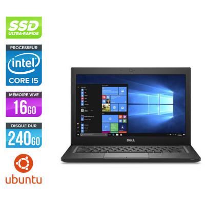 Pc portable - Ultraportable reconditionné - Dell Latitude 7280 - i5 - 16Go - 240Go SSD - Linux