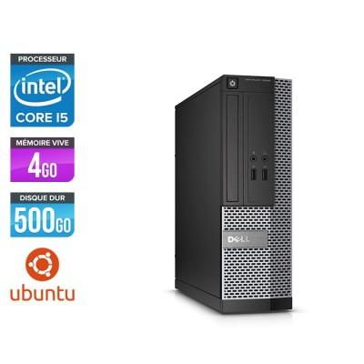 Pc de bureau reconditionné - Dell Optiplex 3020 SFF - i5 - 4Go - 500Go HDD - Ubuntu - Linux