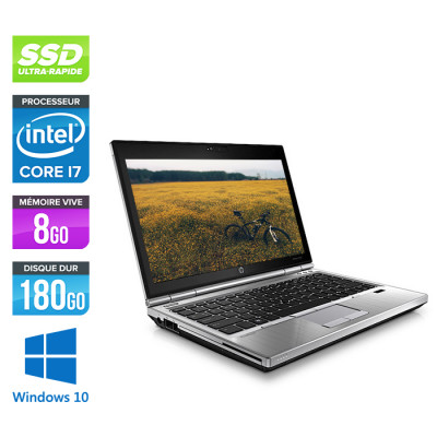 HP EliteBook 2570P - Core i7 - 8 Go - 180Go SSD - Windows 10