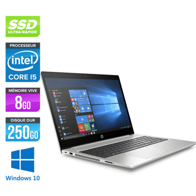 HP 450 G6 - i5 - 8Go - SSD 256 Go + 1 To HDD - 15.6'' - Win10