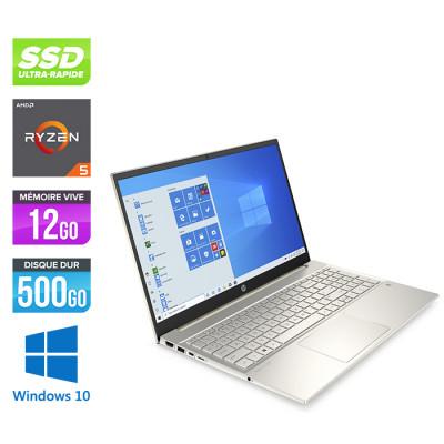 "Pc portable reconditionné HP 15-EH0008NF - Amd Ryzen 5 4500U - 12Go - 512 Go SSD - 15"" FHD - Windows 10 - Trade Discount"