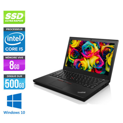 Lenovo ThinkPad X250 - i5 5300U - 8 Go - 500 Go SSD - Windows 10