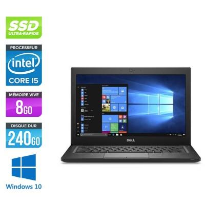 Pc portable - Ultraportable reconditionné - Dell Latitude 7280 - i5 - 8Go - 240Go SSD - Windows 10