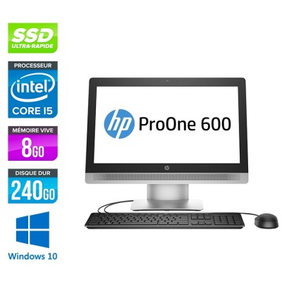 PC Tout-en-un HP ProOne 600 G2 AiO - i5 - 8Go - SSD 240Go - Windows 10