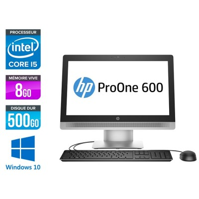 PC Tout-en-un HP ProOne 600 G2 AiO - i5 - 8Go - 500Go - Windows 10