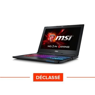 Ordinateur portable gamer - reconditionné MSI GS60-6QC - i7 - 8Go DDR4 - GTX 960M - W10 - Déclassé