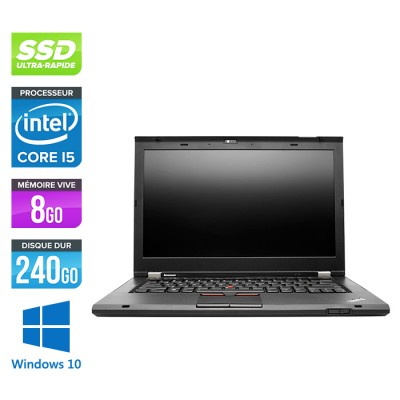 Lenovo ThinkPad T430S - Core i5 - 8Go - 240Go SSD - windows 10