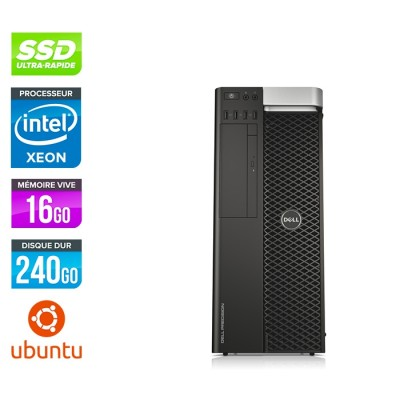 Dell T5600 - Xeon - 16Go - 240Go SSD + 2To - Quadro 2000 - Linux
