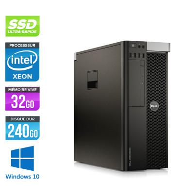 Dell T5610 - Xeon 2650 V2- 32Go - 240Go SSD + 240Go - Quadro M4000 - W10