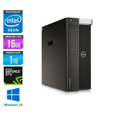Dell T5810 - Xeon 1607 V3 - 16Go - 1To HDD - Quadro 4000 - W10