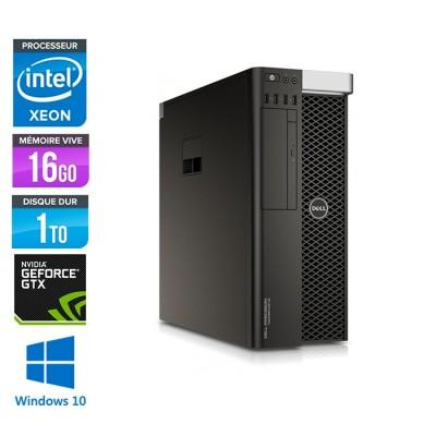 Dell T5810 - Xeon 1607 V3 - 16Go - 1To HDD - Quadro 4000 - W10